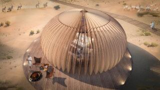 Wohnkapsel macht die Wüste wohnlich (Bild: AIDIA STUDIO)