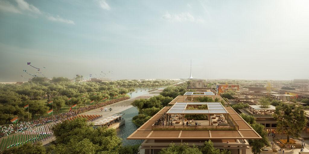 The master plan by Foster + Partners is expected to turn Amaravati into a model city
