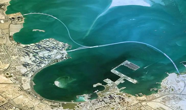 Aerial view of Doha Bay
