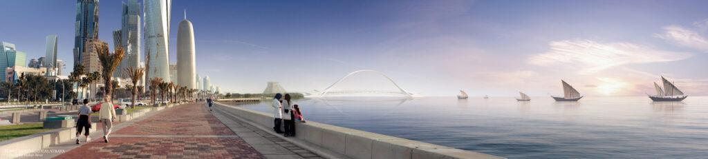 Sharq Crossing - West Bay Bridge and Corniche