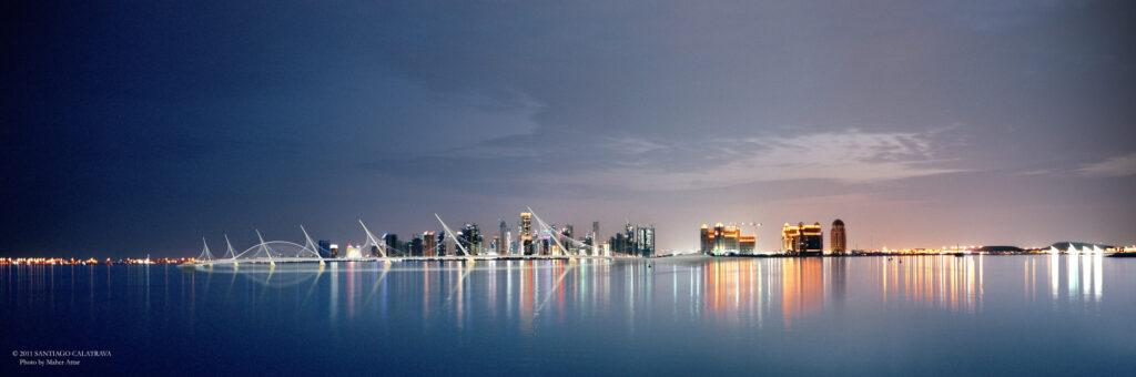 Panorama Doha at night