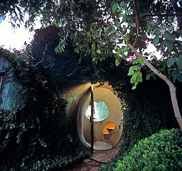 Casa Organica, Senosiain, Entrance