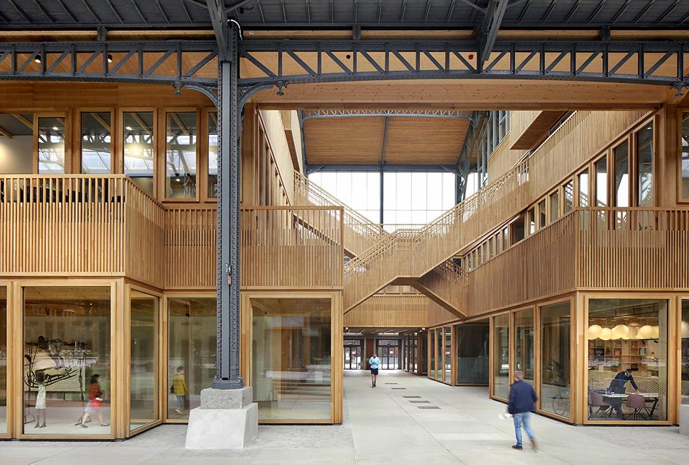 Gare Maritime pavilions in timber