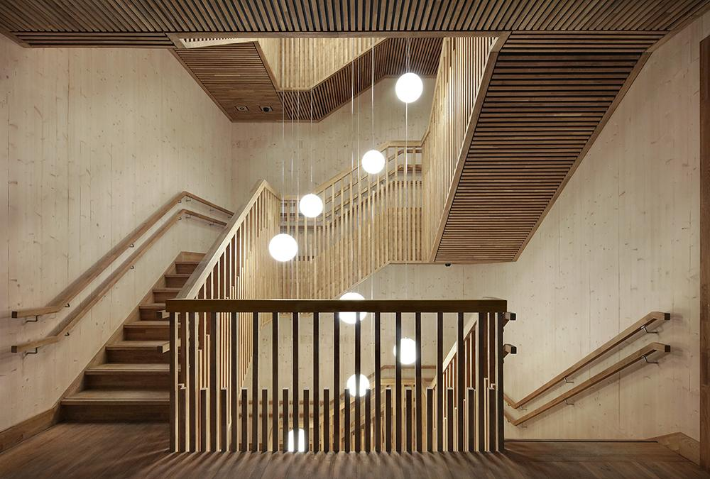 Gare Maritime stairways in timber