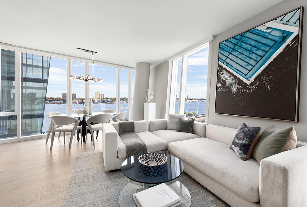"""Lifestyle-Luxus im Rockwell Design. Traumhaft wohnen, zum Beispiel im """"Waterline Square""""-Turm eins.(Bild: Evan Joseph)"""