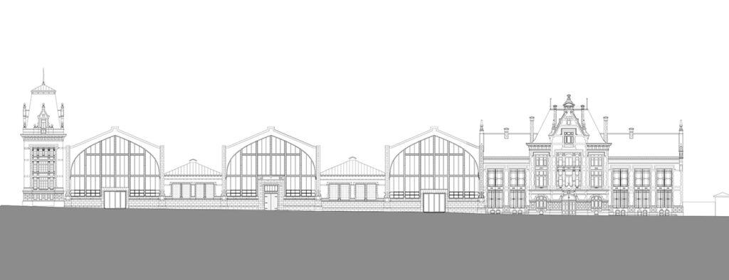 Drawing of outside view: Gare Maritime