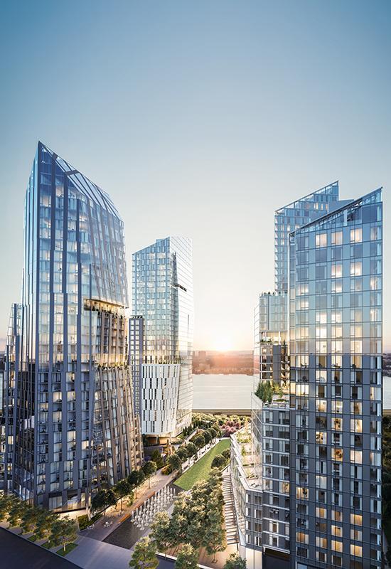 Lifestyle-Luxus im Rockwell Design. Das neue Freizeitzentrum liegt unterm zentralen Park der Anlage. (Bild: Noe & Associates with The Boundary)