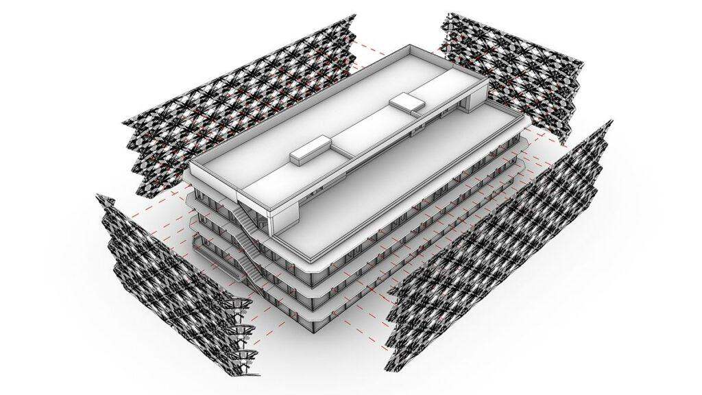 Fassade aus Carbonfaser