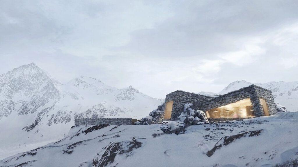 Biwak Schutzhütte im Schnalstaler Gletscher