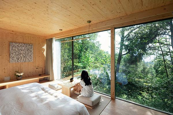 Mountain and Cloud Cabins, Schlafzimmer