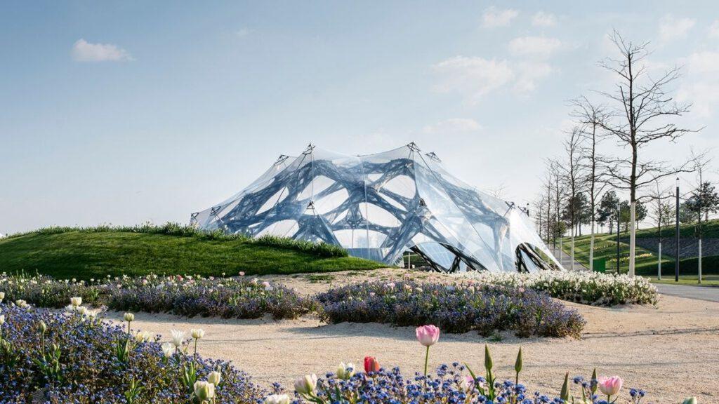 Pavillon bei Bundesgartenschau in Heilbronn