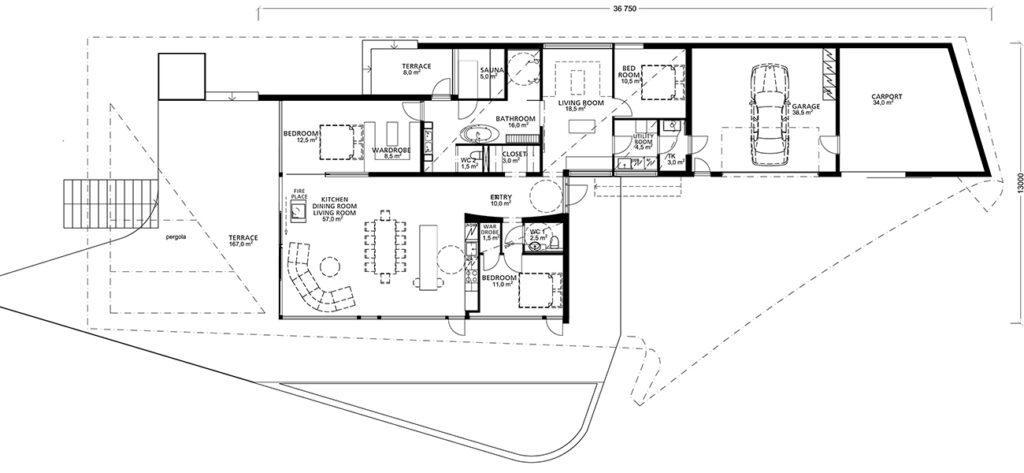 Großzügige Räume, viel Tageslicht und beste Sicht ins Freie: Das Luxus-Blockhaus bietet besten Wohnkomfort. (Bild: Seppo Mäntylä)