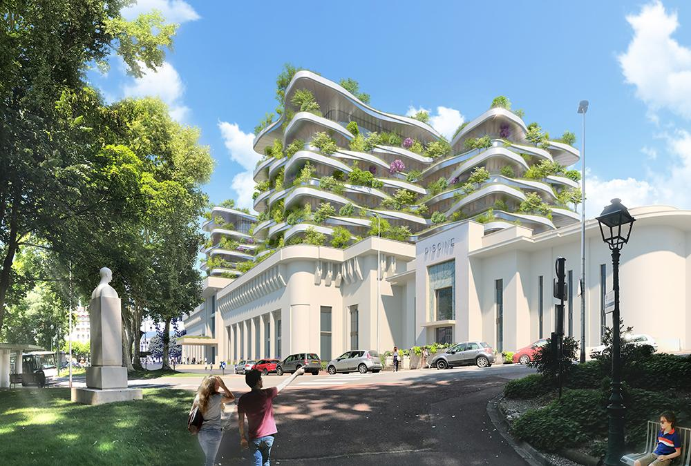 Thermal baths in Aix-les-Bains: design by Vincent Callebaut