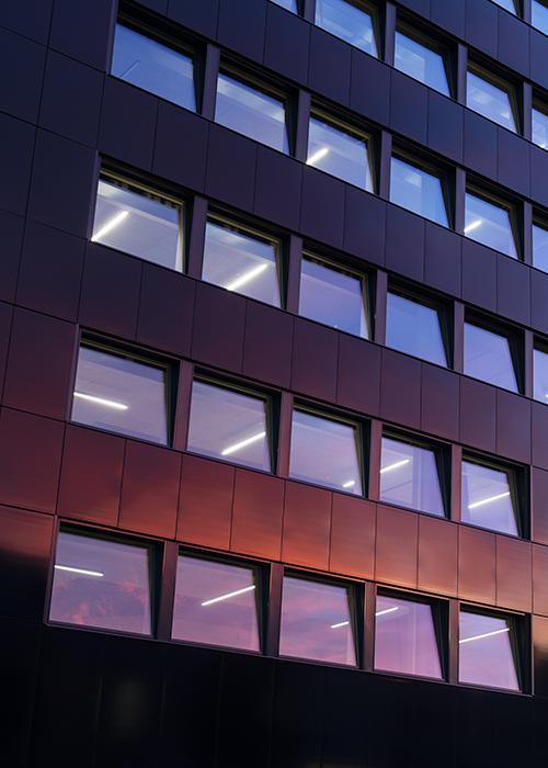 Powerhouse Telemark facade with windows (credit: Ivar Kvaal)