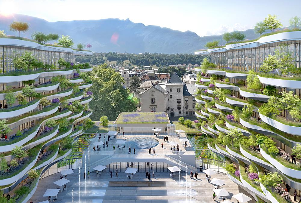 Vincent Callebaut's design for the new thermal baths in Aix-les-Bains