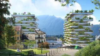 "Antik wird ""grün"" in Aix-les-Bains (Bild: Vincent Callebaut Architectures)"