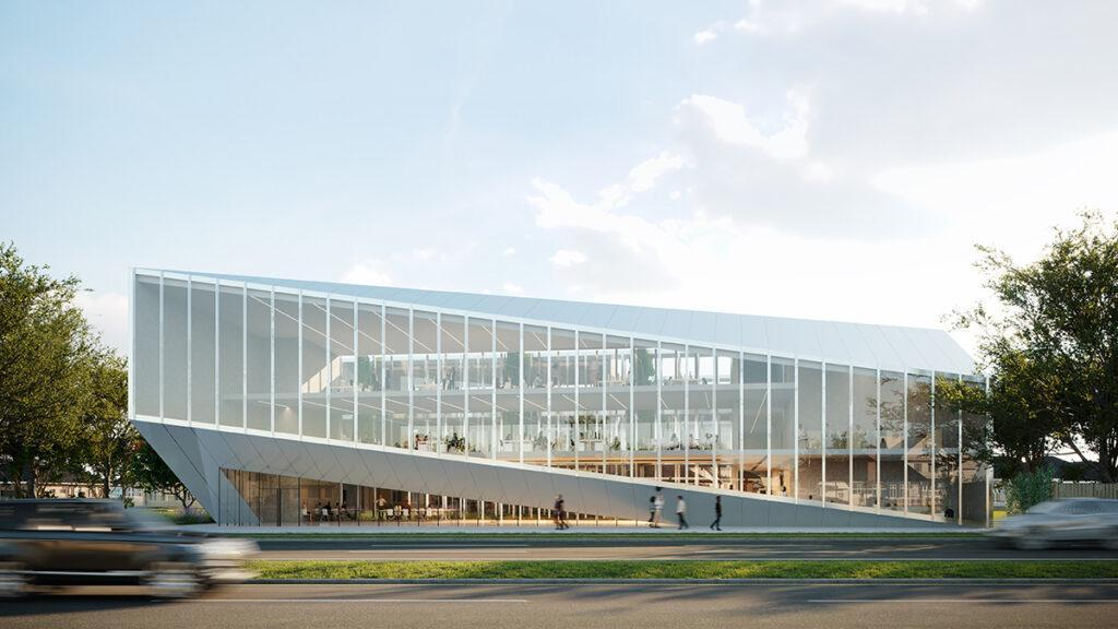 The design for the new Ochsner Center for Innovation has already received several awards. (Image: Trahan Architects)