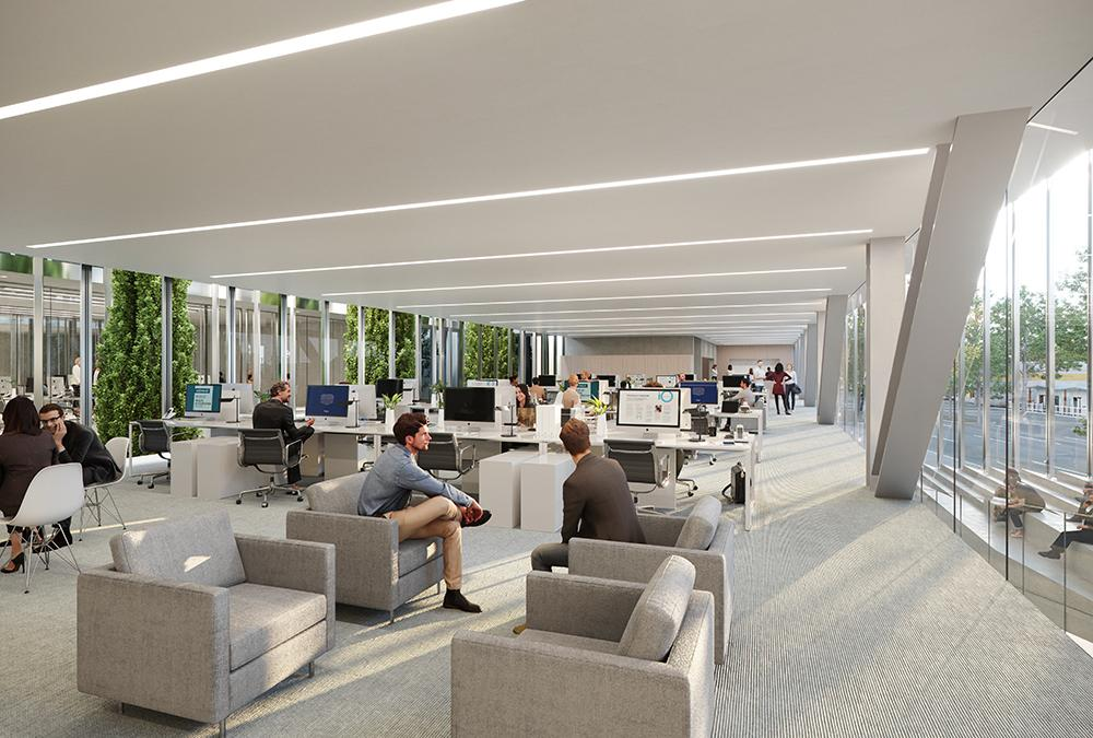 The healthy Ochsner Center. (Image: Trahan Architects)