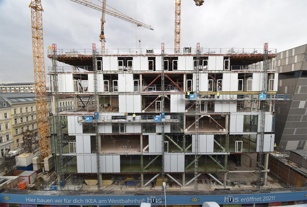 Vienna's new IKEA is scheduled to open its doors in autumn 2021. (Image: GREENPASS)