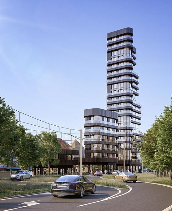 Der Heldenturm von Knokke-Heist. (Bild: SALT / G2 architectural graphics)