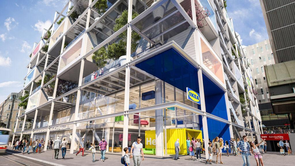 Centrally located, vibrant and green: the city store is expected to become a popular new meeting place. (Image: ZOOM visual projects GmbH)