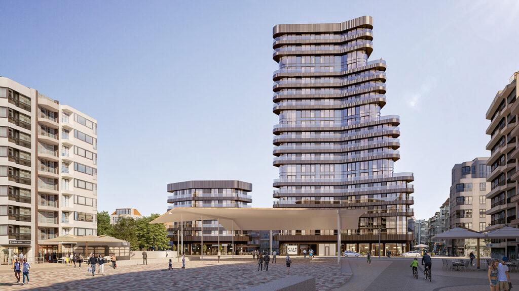 Der Heldenturm von Knokke-Heist (Bild: SALT / G2 architectural graphics)