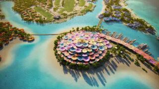 """""""Coral Bloom"""" erblüht im Roten Meer (Bild: Foster + Partners / TRSDC)"""