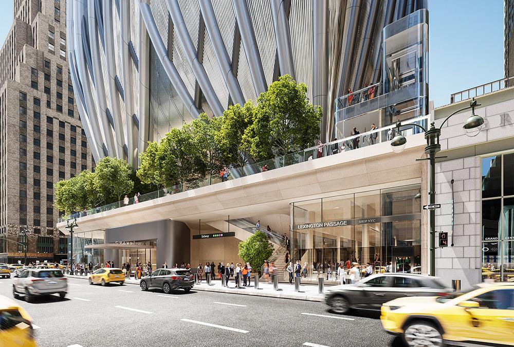 """Top-Ersatz für Trumps """"Grand Hyatt"""".  Eleganter Problemlöser: Der von Skidmore, Swings & Merrill (SOM) designte Neubau """"175 Park Avenue"""".(Bild: EKOO Media Inc. / SOM)"""