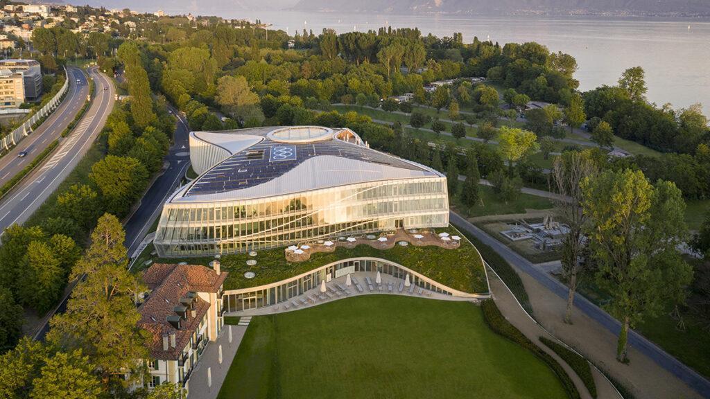 """""""Nachhaltigkeit hat viele Facetten"""". """"Olympic House"""": Der neue Hauptsitz des IOC in Lausanne. (Bild: 3XN)"""