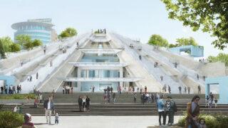 Die viellebige Pyramide von Tirana (Bild: MVRDV)
