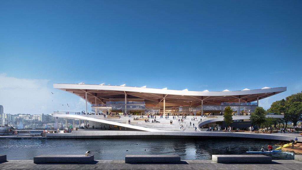 """""""Nachhaltigkeit hat viele Facetten"""". Der neue """"Fish Market"""" in Sydney soll in eineinhalb Jahren fertig sein. (Bild: 3XN)"""