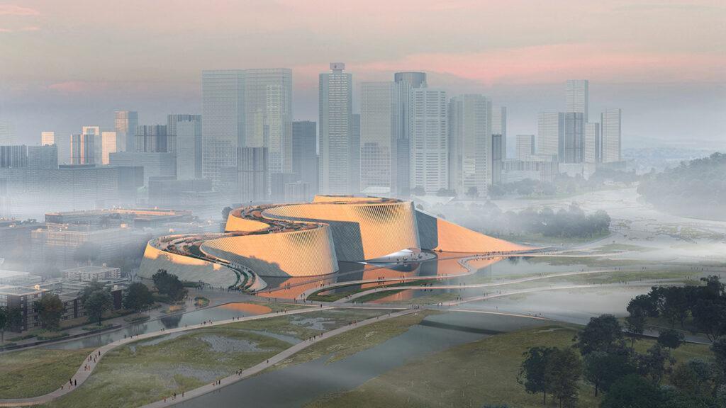 """Spektakuläres 3XN-Großprojekt: Das neue Naturkundemuseum der chinesischen """"leading design""""-Metropole Shenzhen. (Bild: 3XN)"""