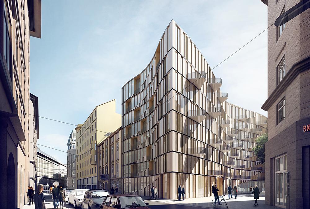 """""""Nachhaltigkeit hat viele Facetten"""". Das von 3XN designte Haus in der Wiener Renngasse 10. (Bild: 3XN)"""