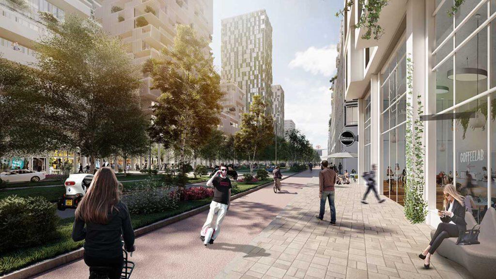 """Neues """"Herzstück"""" für Eindhoven. Die bisherige Hauptverkehrsader wird zum einladenden Stadtboulevard. (Bild: KCAP)"""