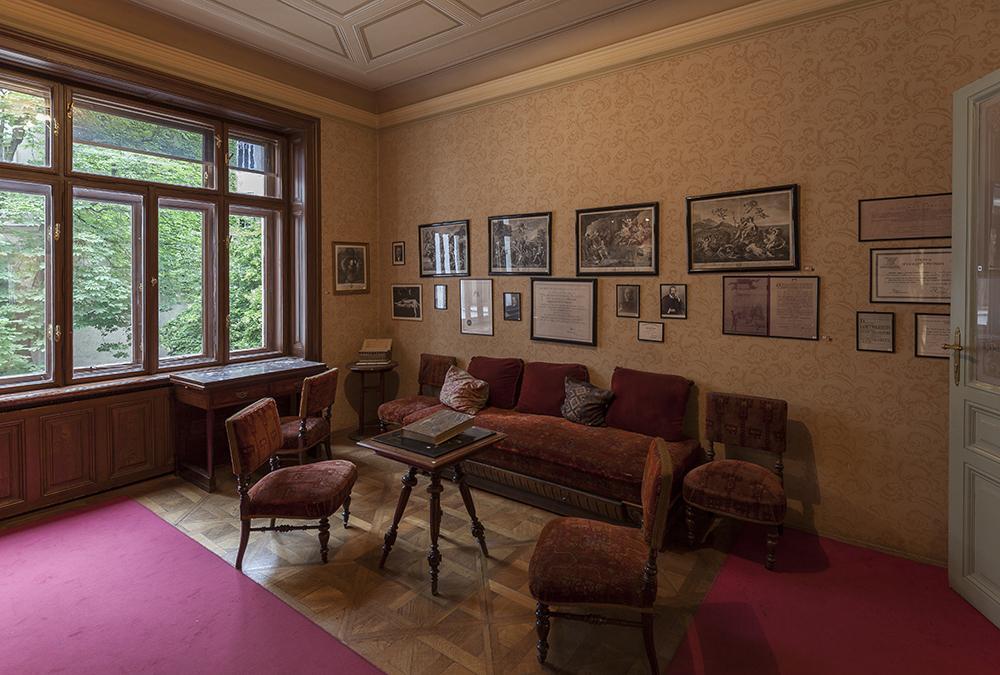 Award-Anwärter Freud Museum. Sigmund Freuds Wartezimmer in der Berggasse 19, vor der Sanierung. (Bild: Oliver Ottenschlaeger, Sigmund Freud Privatstiftung)