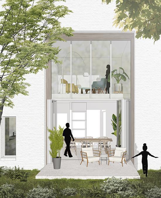 Projekt HOLT in Groningen: Die Wohnungen sollen viel Raum für Outdoor-Freuden bieten. (Bild: Powerhouse Company)