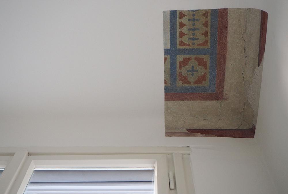 Zeitzeugen im Freud Museum: Freigelegtes Detail in der Veranda. (Bild: Stephanie Letofsky, Sigmund Freud Privatstiftung)