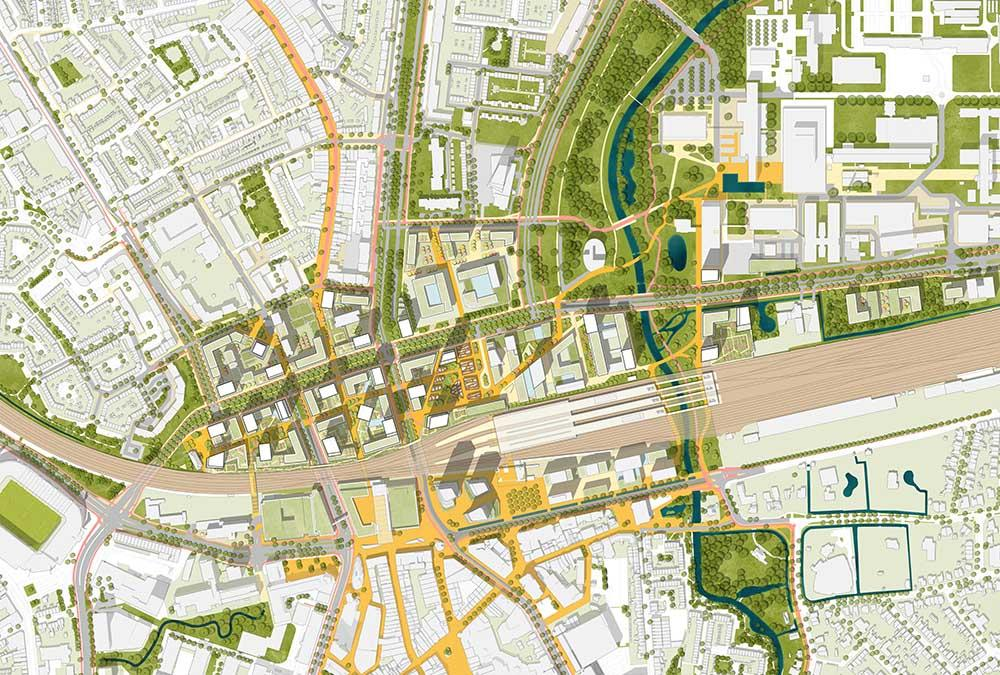 Masterplan für Eindhoven / Fellenoord: Das international erfolgreiche KCAP-Team wird die Transformation auch leiten. (Bild: KCAP)