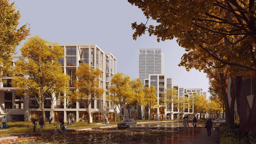 """Ein """"Wohn-Wald"""" wächst in Groningen. (Bild: Proloog)"""