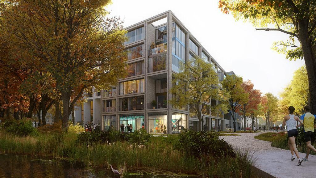 Das Beste zweier Welten: Die neue Anlage in Groningen führt Stadt und Natur zusammen. (Bild: Proloog)