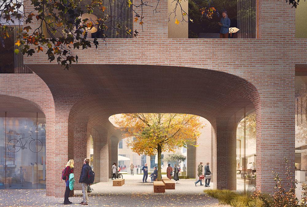 Die neue Anlage HOLT nimmt kleine Anleihen bei den traditionellen Bauten von Groningen (Bild: Proloog)