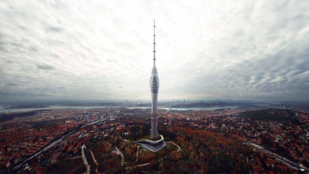 TV- und Funkturm in Istanbul