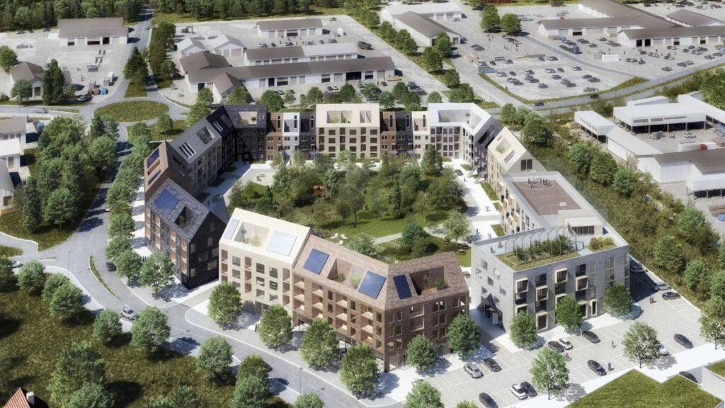 Der neue Block Skärvet im neuen Stadtteil Bäckaslöv