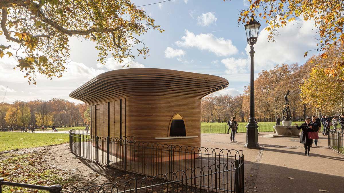 Holz-Kiosk, Mizzi Studio, London