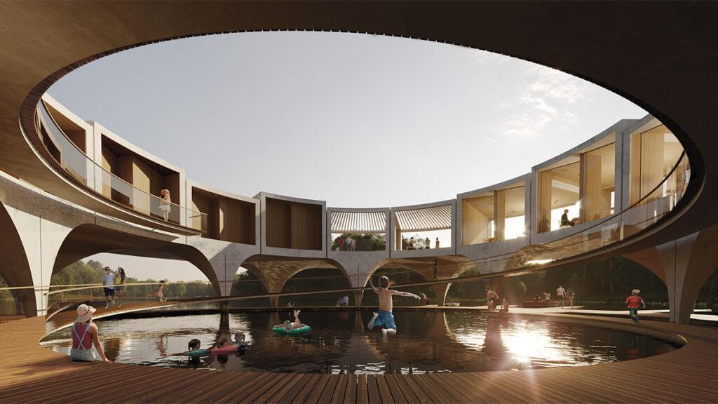Moderne See-Architektur: Smartvolls Entwurf verspricht ein vielfältiges Freizeitangebot. (Bild: smartvoll / Mathias Bank)