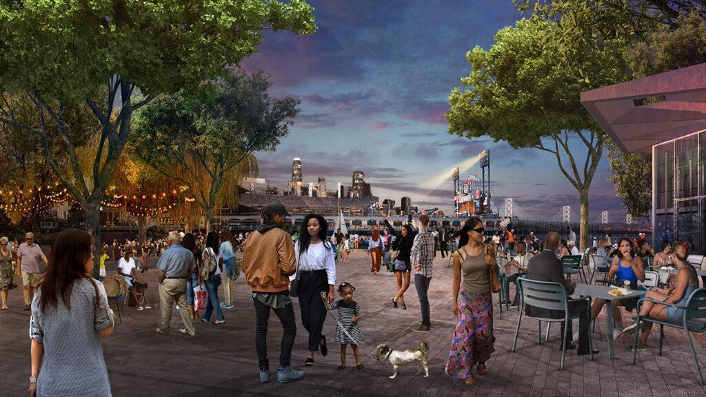 Die Central Plaza von Mission Rock, designt vom Büro SCAPE. (Bild: SCAPE)