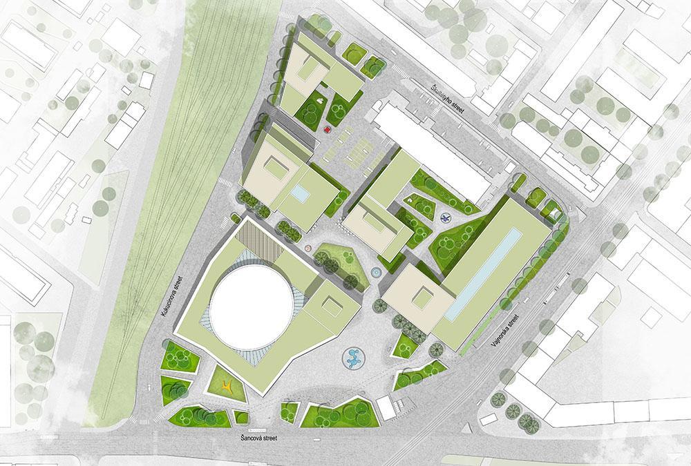 Von den Rotterdamer Architekturbüros KCAP und CITYFÖRSTER designt: Der Masterplan fürs neue Kulturviertel in Bratislava. (Bild: KCAP)