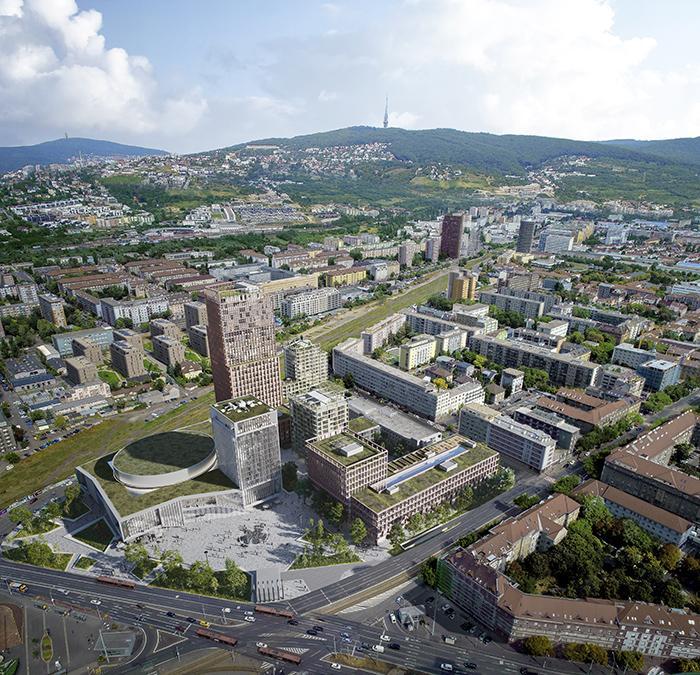 Buntes Programm, viel öffentlicher Raum und Grün sollen das Leben im neuen Viertel von Bratislava bereichern. (Bild: KCAP und CITYFÖRSTER / Playtime)