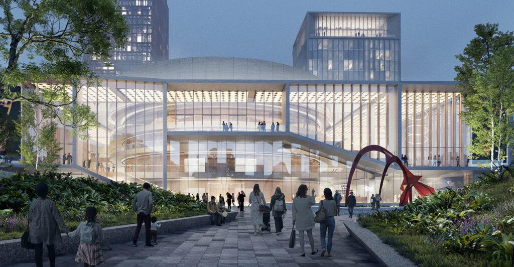 Kultur-Hotspot vom Feinsten: Das neue Center soll auch internationale Kongresse und Groß-Veranstaltungen nach Bratislava locken. (Bild: KCAP und CITYFÖRSTER / Playtime)