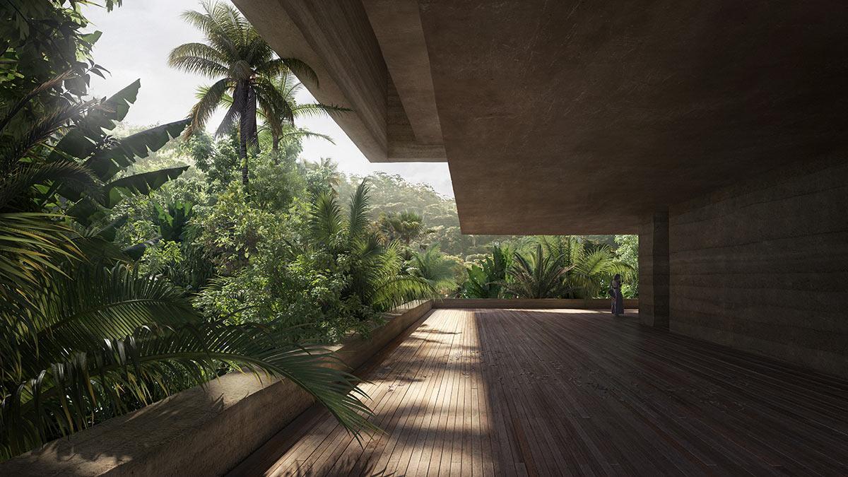 Terrasse, Xinatli, Mexiko, Viktor Sørless